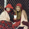 Westfield fans keeping warm on a cold night of football.