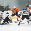 3rd Period goalie Christian Czarnecki deflects an Agawam shot