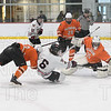 Max Maggipinto pushes the puck past the Agawam goalie for his second goal of the second period on his way to a natural hat trick