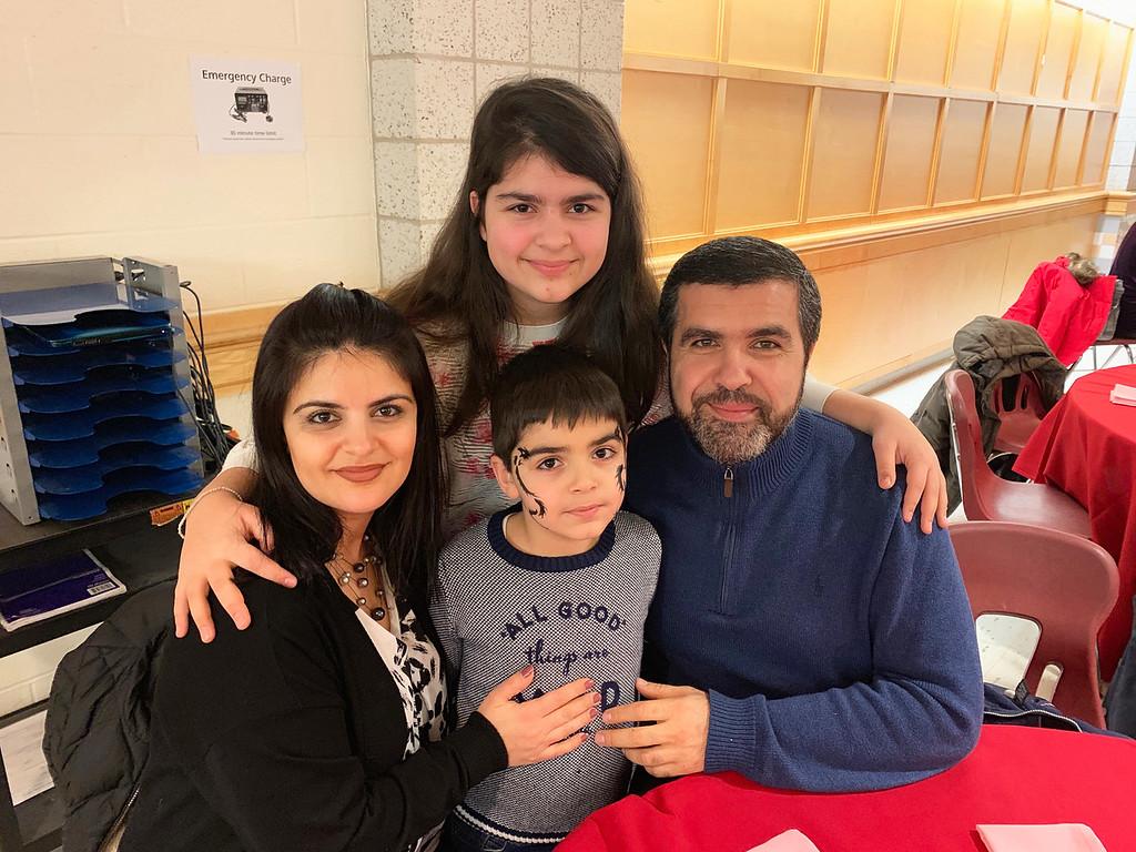 . The Kesablyan family of Chelmsford, from left, Anna, Narek, Maria and the Rev. Khachatur Kesablyn of Saints Vartanantz Armenian Apostolic Orthodox Church in Chelmsford