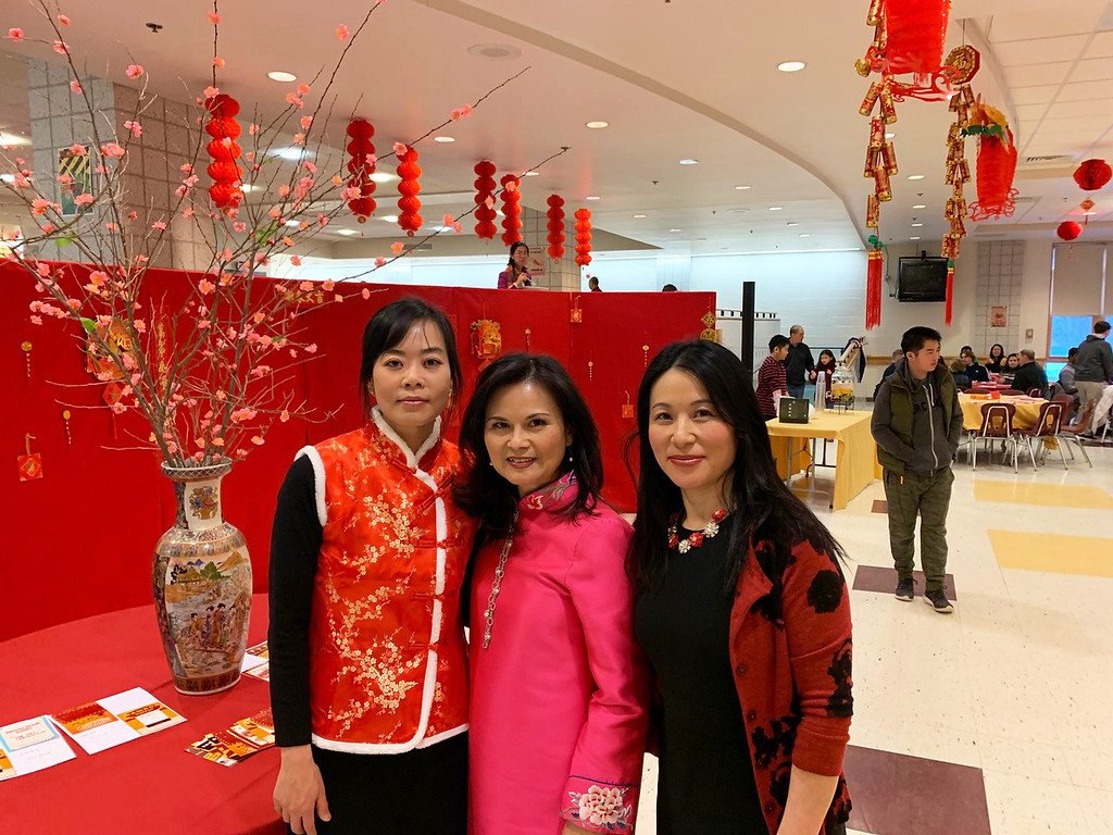 . Lovely co-chairs, from left, Julia Shen and Ha Thai of Westford, and Program Director Zhenyan Li of Tewksbury