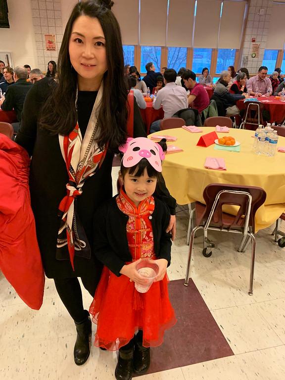 . Dana Wang of Nashua with Zoe Li