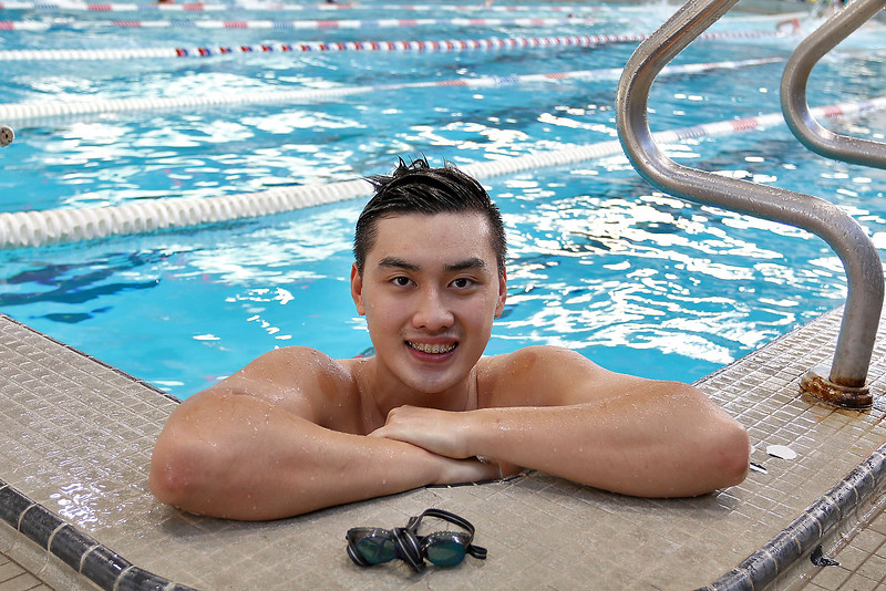 Westford Academy swimming star JASON JUNG. SUN/JOHN LOVE