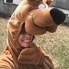 Erika Lanier dresses as Scooby-Doo.