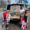 The Holmes children, from left, Aidan, Shea, Reese, Adalynne and Riley