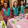 Girl Scouts of Westford Troop 66305, from left, Aida DiBisceglie, Makayla Cassie and Kristyn Landers, all of Westford