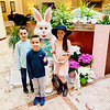 Joseph, Wesley and Giada Blake of Burlington get a photo op with the Easter Bunny.