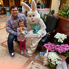 Chris and Abby Phillips of Westford are all smiles hanging with the Easter Bunny.