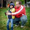 Marc Tousignant of Westford helps his son, Alexander, 5, go fishing at the Fishing Derby at the Westford's Sportsmen's Club. SUN/Caley McGuane