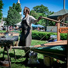 Carl West of Walthamm demonstrates some Blacksmithing techniques at the Westford Strawbery and Arts Festival. SUN/Caley McGuane