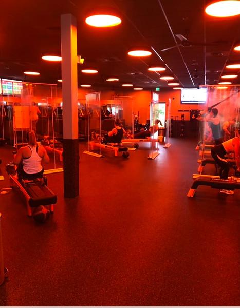 Members enjoy Orangetheory Fitness workouts.