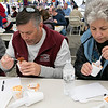 The Westminster Cracker Festival was held on Saturday, Oct. 19, 2019 in Westminster. Trying some chili during the chili cook-off is Jim Delisle and Anne Fusco from Westminster. SENTINEL & ENTERPRISE/JOHN LOVE