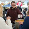 The Westminster Cracker Festival was held on Saturday, Oct. 19, 2019 in Westminster. Shane Murray a cook at the Westminster Country Club serves up their seafood chowder that was part of chowder cook-off at the festival. SENTINEL & ENTERPRISE/JOHN LOVE