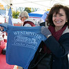 The Westminster Cracker Festival was held on Saturday, Oct. 19, 2019 in Westminster.  Carmela Manago shows off one of this years t-shirts you could get at the festival. SENTINEL & ENTERPRISE/JOHN LOVE
