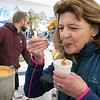 The Westminster Cracker Festival was held on Saturday, Oct. 19, 2019 in Westminster.Trying the Westminster Country Club's Seafood Chowder that was part of chowder cook-off at the festival is Priscilla Sullivan of Fitchburg. SENTINEL & ENTERPRISE/JOHN LOVE