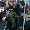 The Westminster Cracker Festival was held on Saturday, Oct. 19, 2019 in Westminster. Lilly Adams shows off the 12lb lobster the Angler Fish Chowder Company was raffling off at their booth during the festival. SENTINEL & ENTERPRISE/JOHN LOVE