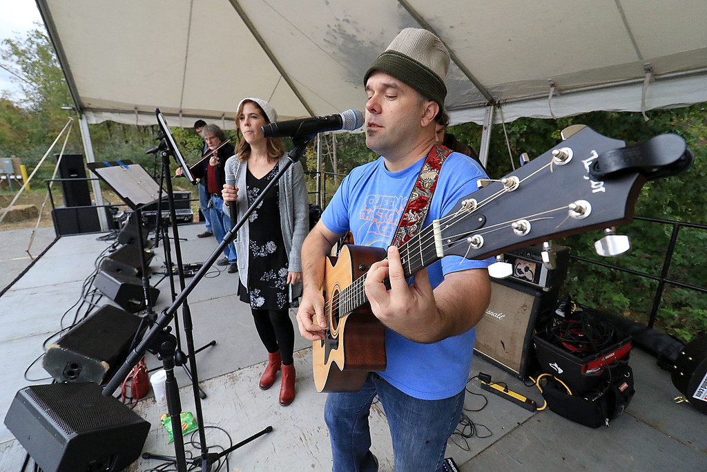 ". The annual Cracker Festival was held in Westminster on Saturday, October 20, 2018. The group ""Tribe\"" performed on stage for the crowds at the festival. Singing and playing the guitar with the band is Sam Femino. Next to him is singer Val Newman. SENTINEL & ENTERPRISE/JOHN LOVE"