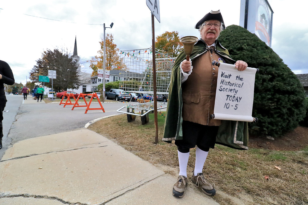 . The annual Cracker Festival was held in Westminster on Saturday, October 20, 2018. Walking around the festival dressed as the town crier was Bob Feeley. SENTINEL & ENTERPRISE/JOHN LOVE