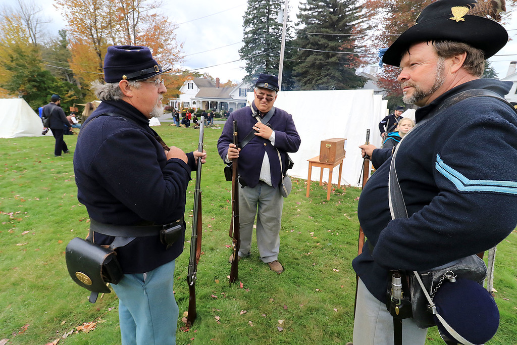 . The annual Cracker Festival was held in Westminster on Saturday, October 20, 2018. Members of the 15th MA Volunteer Infantry participate in some reenactments during the festival. SENTINEL & ENTERPRISE/JOHN LOVE