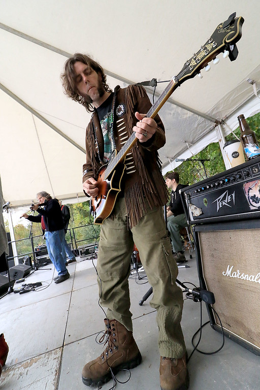 ". The annual Cracker Festival was held in Westminster on Saturday, October 20, 2018. The group ""Tribe\"" performed on stage for the crowds at the festival. Playing the guitar with the band is Nate Grigos. SENTINEL & ENTERPRISE/JOHN LOVE"