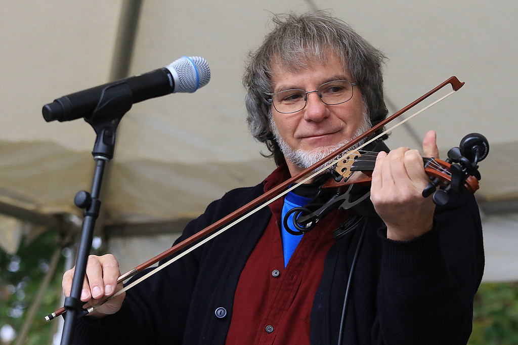 ". The annual Cracker Festival was held in Westminster on Saturday, October 20, 2018. The group ""Tribe\"" performed on stage for the crowds at the festival. Playing the fiddle with the band is Dan Villani. SENTINEL & ENTERPRISE/JOHN LOVE"