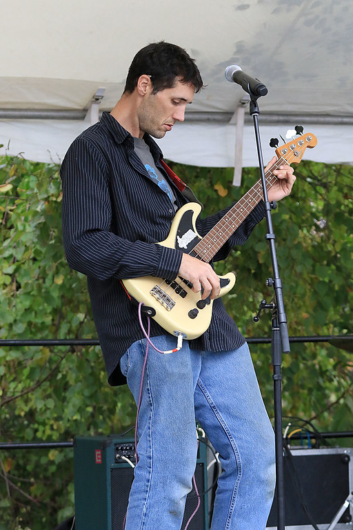 ". The annual Cracker Festival was held in Westminster on Saturday, October 20, 2018. The group ""Tribe\"" performed on stage for the crowds at the festival. Playing the bass with the band is Nate Gorczynski. SENTINEL & ENTERPRISE/JOHN LOVE"