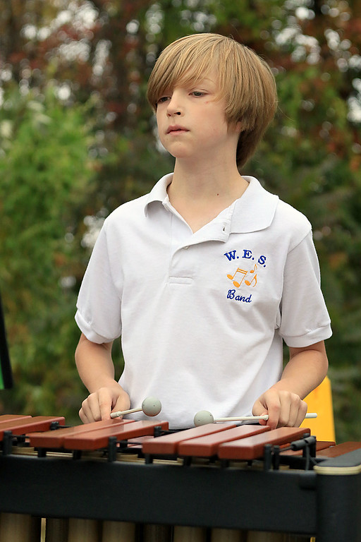 . The annual Cracker Festival was held in Westminster on Saturday, October 20, 2018. The Westminster Elementary School jazz band performed for the crowd at the festival. Playing the xylophone with the group is fifth grader Nolan Leclair, 11. SENTINEL & ENTERPRISE/JOHN LOVE