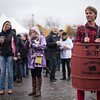 Jared Moore of Hubbardston dressed in a barrel during Saturdays Cracker Festival in Westminster.  Sentinel & Enterprise photo/Jeff Porter