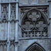 Wall of Westminster Abbey in London