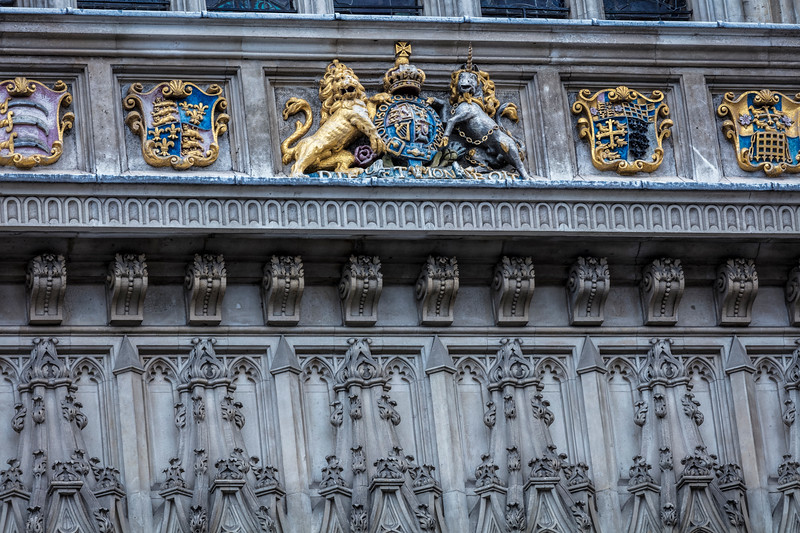 Royal Crest on side of Westminster Abbey