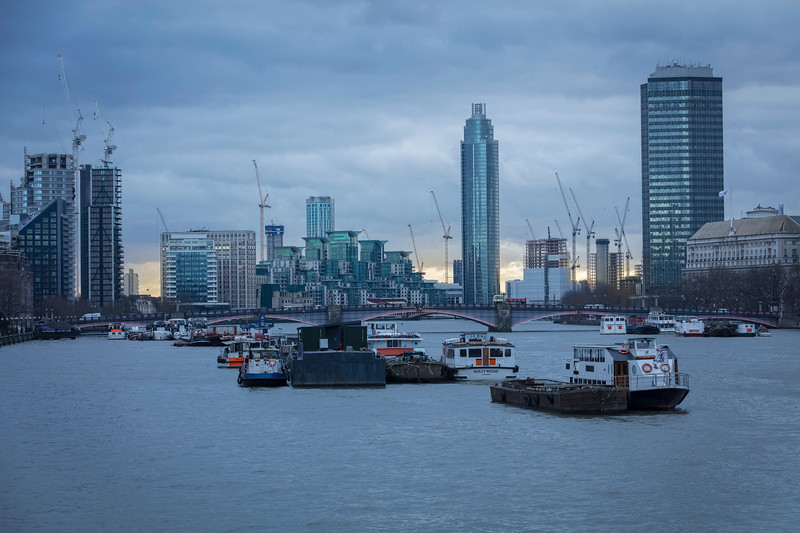 Vauxhall and the River Thames from Westminster Bridge