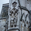 Statues on the side of Westminster Abbey in London