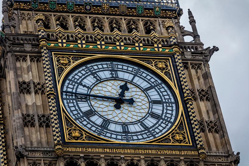 Clock Face of the Queen Elizabeth Tower - Big Ben