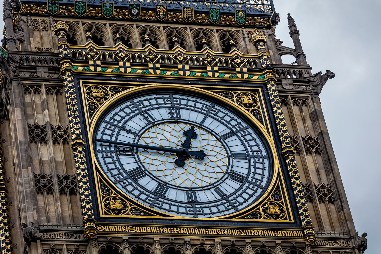 Clock Face of the Queen Elizabeth Tower - Big Ben