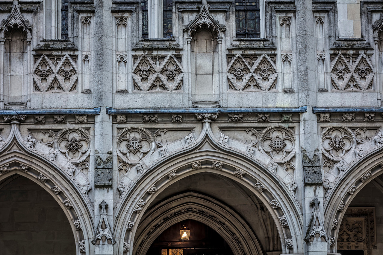 Detail of arches at St Margaret's Church in Westminster London