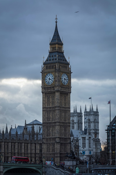 Big Ben and the Red London Bus