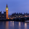 Big Ben at Night and Movement at Westminster Bridge