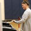Mackenzie Tucker puts  her ballot into the ballot box at the polls in Westminster on Tuesday at the Westminster Elementary School. SENTINEL & ENTERPRRISE/JOHN LOVE