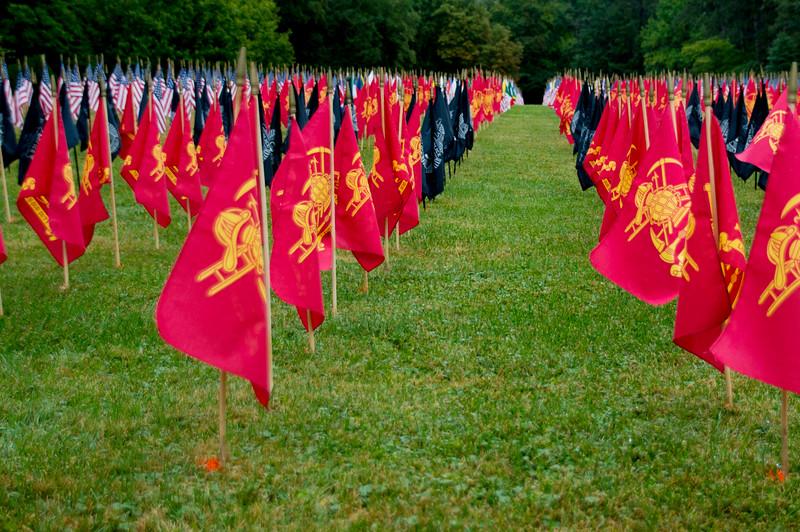 9/11 Memorial Firefigher Flags
