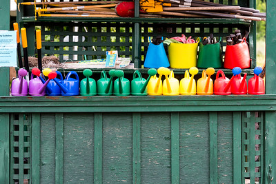 Watering Cans at Lands' Sake Farm