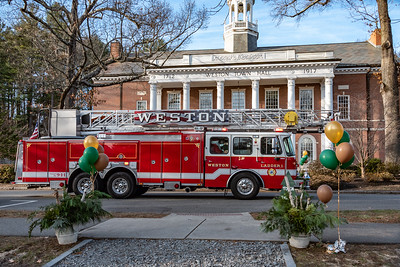 Weston Town Hall and Fire Truck
