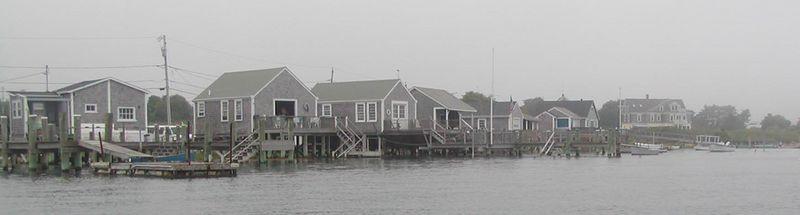 """Boathouses""  or Fishing ""Shacks"" near the Nubble"