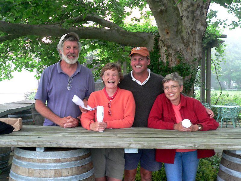 Peter, Kathy, Rich, Susie at Westport Rivers Winery