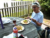 Mom and I shared a lobster sandwich at Cecily's in Padanaram: see next photo for the sandwich!