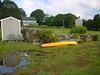 Stony Acres, with my mango - colored kayak.