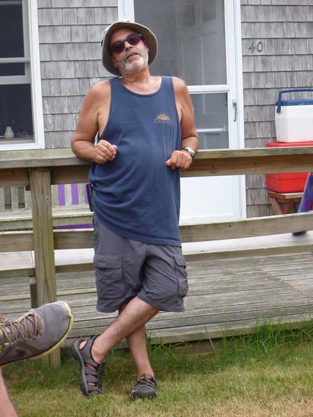 John Sousa, posing with shirt