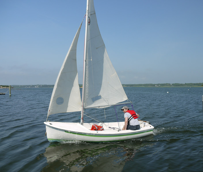 Jon sails Widgeon.
