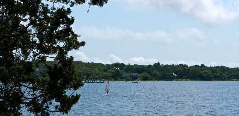 I think this is Chris, or it might be Jon, sailboarding off Cadman's Neck.