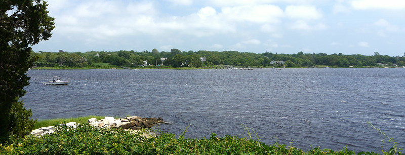 Morning view from Cadman's Neck, looking Easterly, toward the east shore of the East Branch of the Westport River.