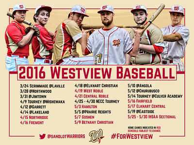 2016 Baseball Schedule Posters